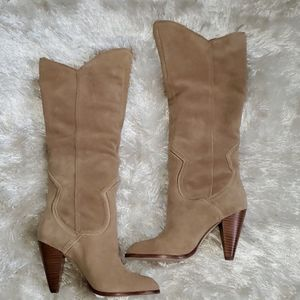 Gorgeous ALDO Tan Suede Pull Up Boot 6.5US/37 EUR